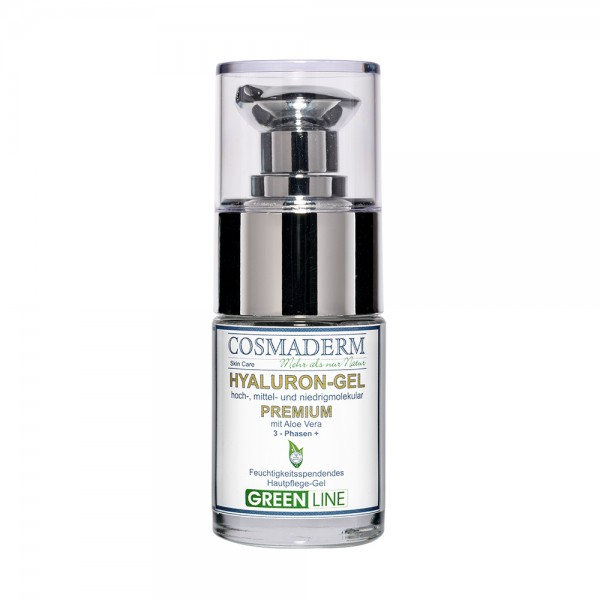 Hyaluron-Gel Premium, Glaspumpspender, 15 ml