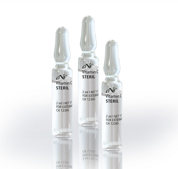 Vitamin C Serum STERIL, Wirkstoffampulle, 2 ml - CNC cosmetic